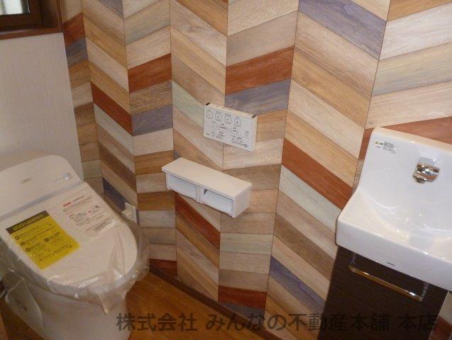 【トイレ】鳥栖小学校校区 無垢材使用した新築戸建