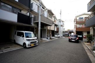 開発地域内の住宅地です
