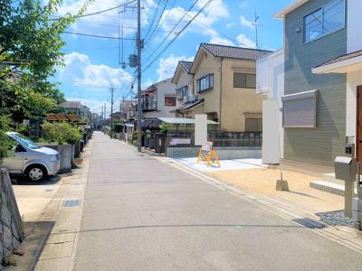 【前面道路含む現地写真】京都市伏見区深草大亀谷古御香町