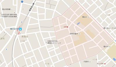 【地図】アクサス西馬込アジールコート