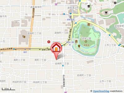【地図】コーポ岩崎