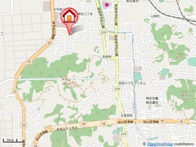 【地図】マロン・スクエア