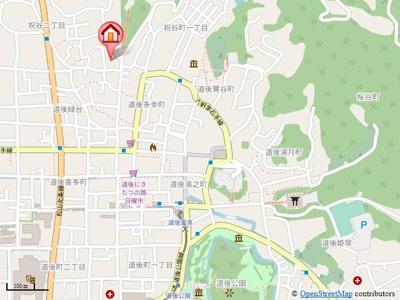 【地図】パストラーレ道後A・B・C