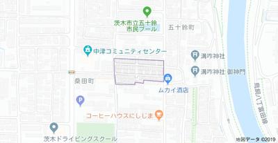 【地図】(仮称)フジパレス戸建賃貸五十鈴町