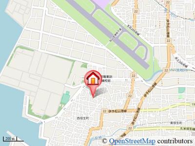 【地図】西垣生町一戸建
