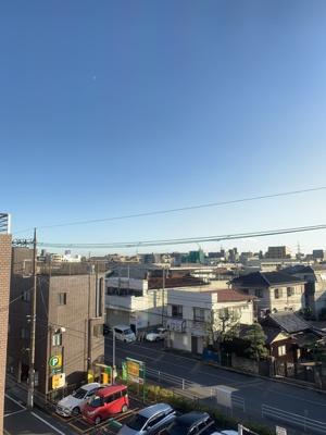 バルコニーからの眺め。ステキなお空だ☆