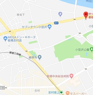 【地図】ルクレ志村坂上