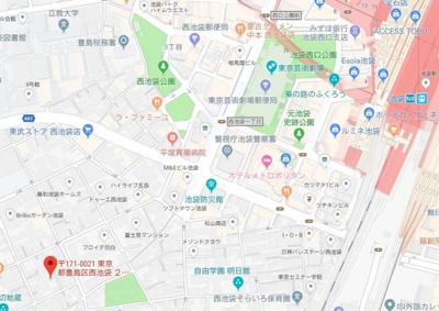 【地図】Vivre池袋