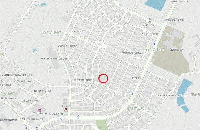 【地図】百合が丘町中古一戸建
