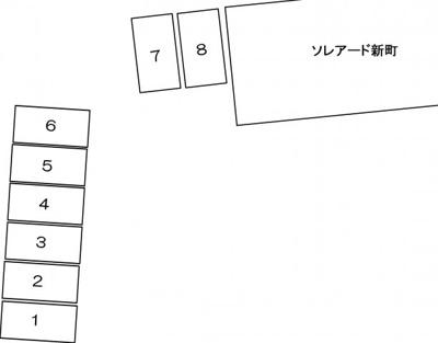 【駐車場】ソレアード新町【SHM】
