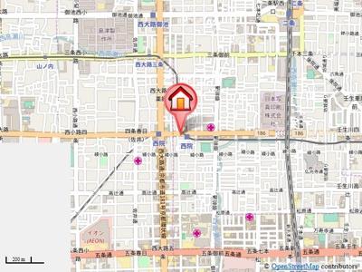 【地図】シティハウス彩