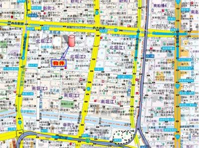 【地図】北堀江GGR