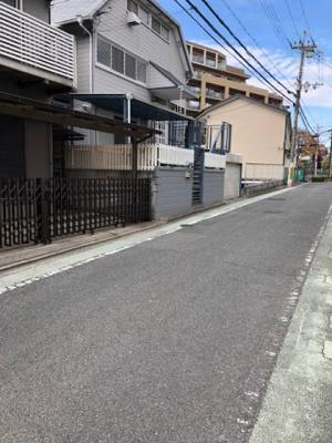 【前面道路含む現地写真】吹田市長野西 売り土地