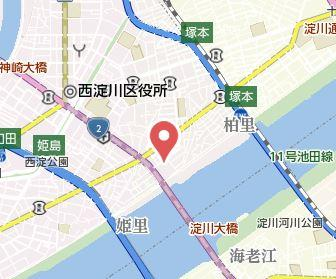 【地図】おおきに花川サニーアパートメント