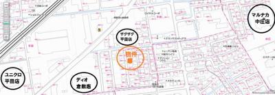 平田 CoCo平田 1LDK 地図