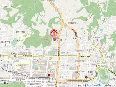 【地図】サーパス祝谷