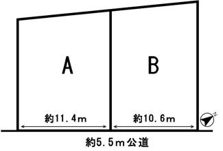 【区画図】54234 岐阜市大縄場分譲地