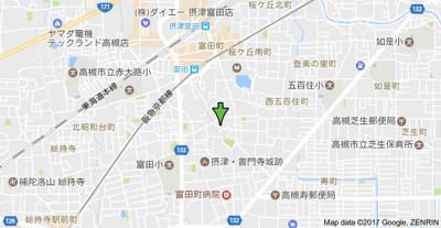 【地図】摂津ハイツ (株)Roots