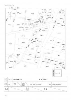 【区画図】簗瀬2丁目売地