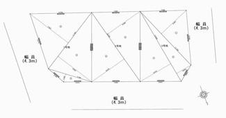 【区画図】大阪府高槻市岡本町 2期1号地 新築戸建