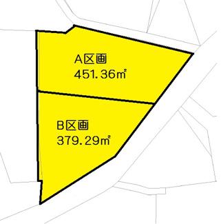 【区画図】安中市磯部三丁目 売地 B区画