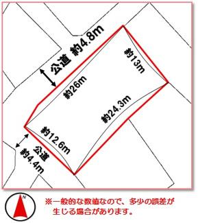 【区画図】宮古島市平良字松原(107.81坪)