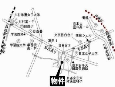 ライフピア目白台Ⅱの地図☆