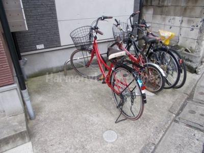alcasa竹ノ塚の駐輪スペース