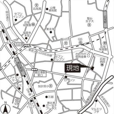 【地図】RISING SUN 恵比寿二丁目
