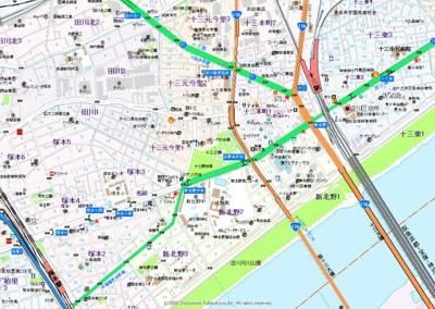 【地図】サンキャッスル田川