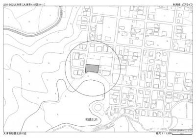 【地図】大津市和邇北浜695-1 売土地
