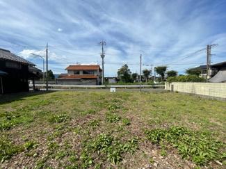【前面道路含む現地写真】饗庭151坪土地