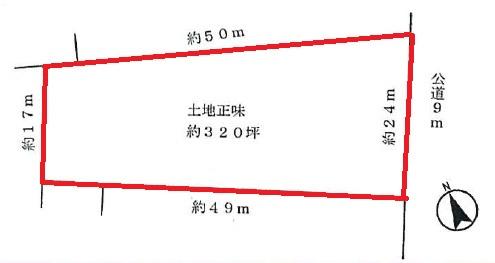 【土地図】入間市牛沢 事務所、店舗用地