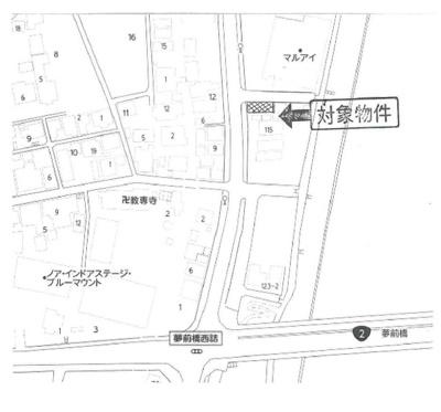 【地図】西夢前台2丁目売土地