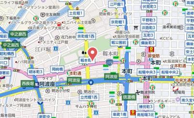 【地図】プレミスト靱公園