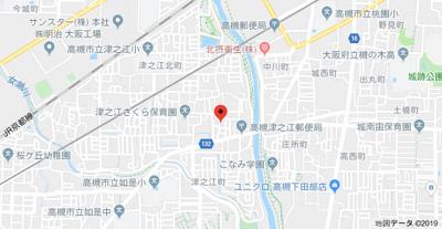 【地図】津之江1丁目2戸1貸家 (株)Roots