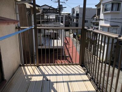 【バルコニー】津之江1丁目2戸1貸家 (株)Roots