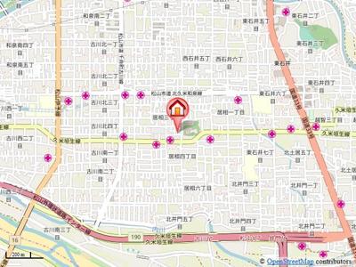 【地図】居相日野貸家・