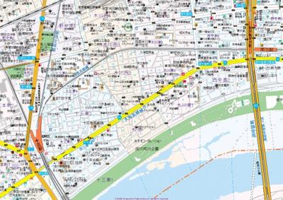 【地図】Luxe新大阪Ⅴ