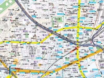 【地図】NOB西梅田