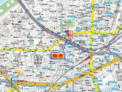 【地図】シャルマンフジ福島