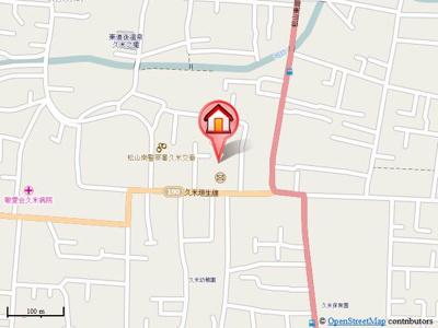 【地図】南久米乃万借家(2階建て)・