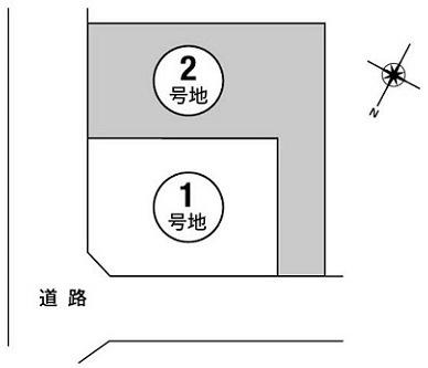 【区画図】箕面市新稲4丁目 新築戸建 2号地