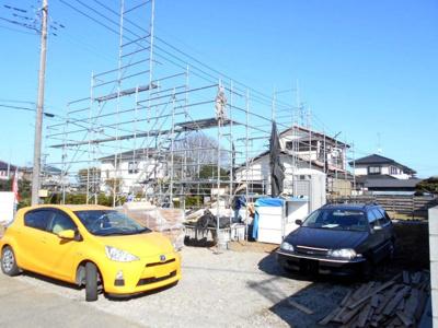 外観もきれいです。新築平屋建て 蓮田市 根金 94坪 4LDK 駐車3台並列。契約可能です。お電話下さい。