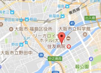 【地図】ザ・パークハウス中之島タワー