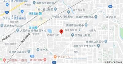【地図】HACHIBUSE高槻(ハチブセ)