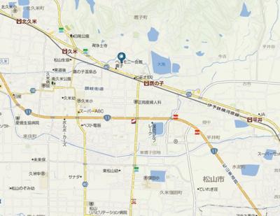 【地図】サニーハウス 久米・