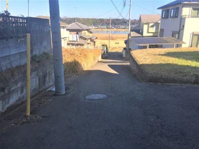 【前面道路含む現地写真】つくば市茎崎