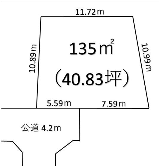 【土地図】深谷市国済寺 730万 土地