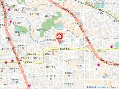 【地図】北久米1034-3-3山口戸建